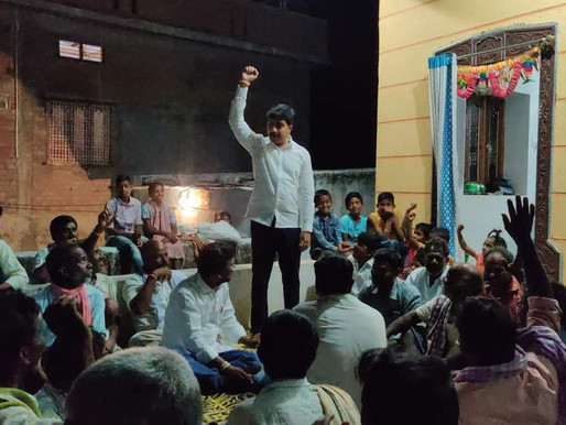Youth leader Rangineni Abhilash earns hearts of rural folks during Palle Nidra