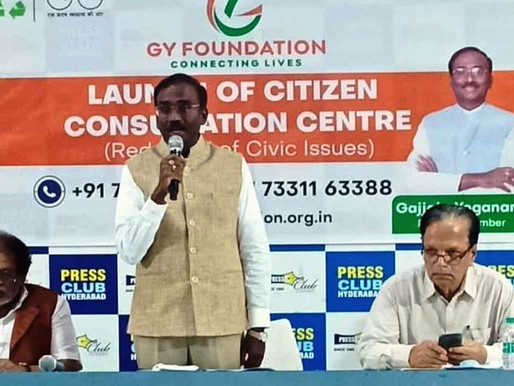 """GY Foundation, Hyderabad has launched, """"Citizen Consultation Centre"""""""