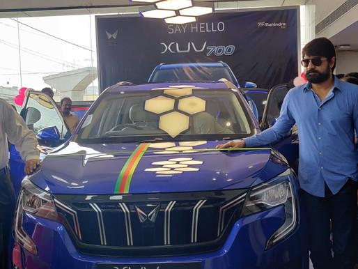 VVC Motors showroom for Mahindra's new XUV700 Unveiled at Kottaguda