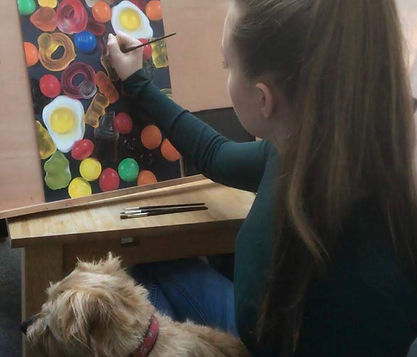Madeline and Teddy Painting