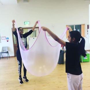huge slime bubbles at our workshop yeste