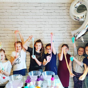 we offer private slime parties aswell as