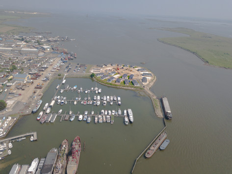 Aerial View of Park and Marina