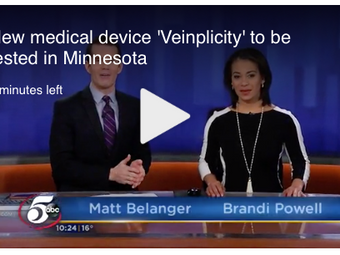"""Physeon's Veinplicity Device Featured on ABC Affiliate KSTP Channel 5; """"VIVA"""" Trials Enrolling at Ma"""