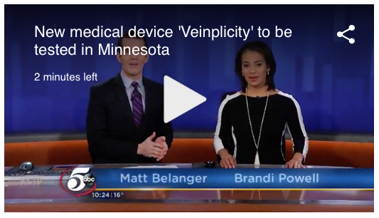 "Physeon's Veinplicity Device Featured on ABC Affiliate KSTP Channel 5; ""VIVA"" Trials Enrolling at Ma"