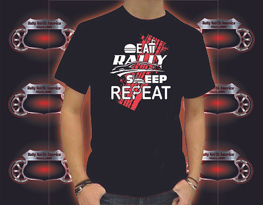 Rally North America Eat Sleep Rally Repeat Tee