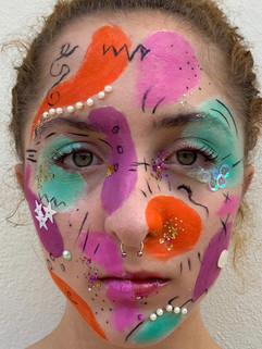 Maquiagem Abstrata