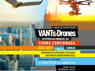 iQuali confirma curso de VANTs e Drones em Vitória da Conquista-BA - Últimas Vagas!