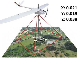 Imagens de Vant com precisão de 3cm sem pontos de controle