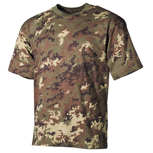 MFH - T-shirt - Korte Mouwen - Vegetato Camo