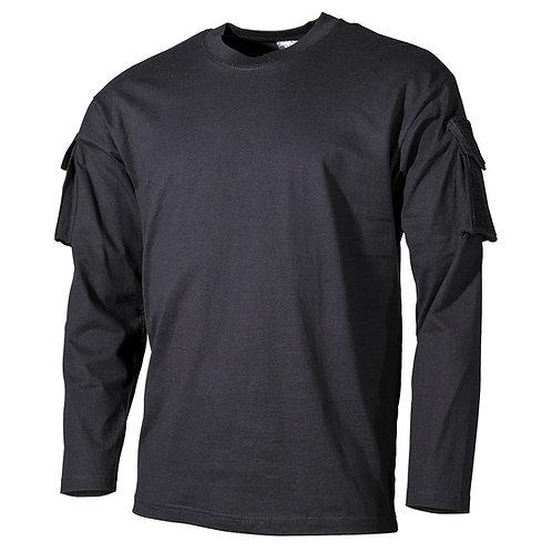 MFH - U.S. Tactical Shirt Lang - Zwart