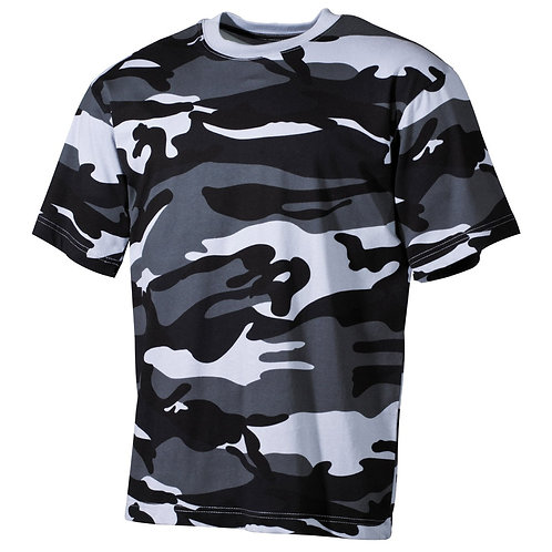 MFH - T-shirt - Korte Mouwen - Skyblue Camo