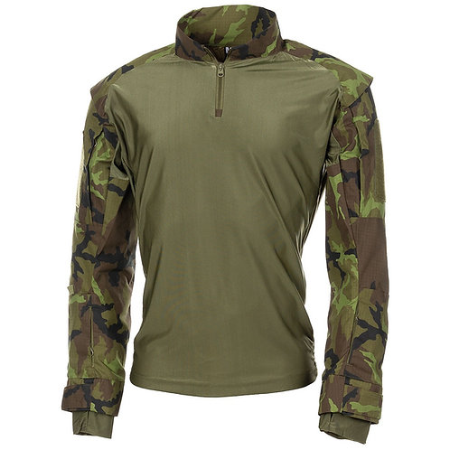 MFH - U.S. Tactical Shirt Deluxe - Lange Mauwen - M 95 CZ Camo