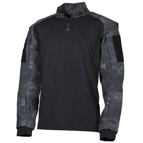 MFH - U.S. Tactical Shirt Deluxe - Lange Mauwen - HDT Night Camo