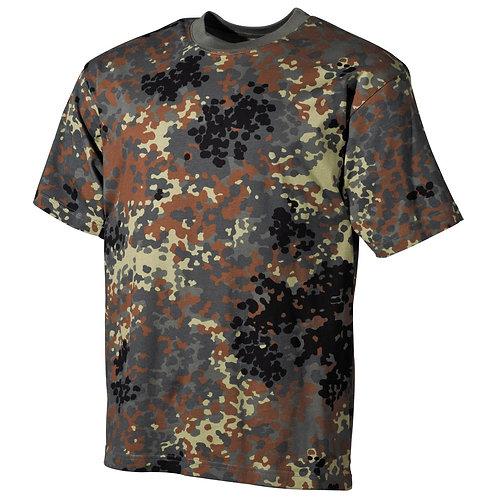 MFH - T-shirt - Korte Mouwen - Flecktarn Camo