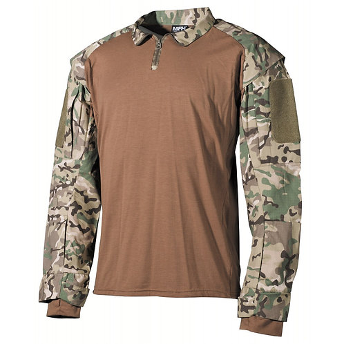MFH - U.S. Tactical Shirt Deluxe - Lange Mauwen - Operation Camo