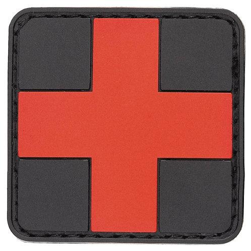 "MFH - Patch ""First Aid"" - Zwart/Rood - 5cmx5cm"