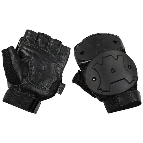 MFH - Beschermende Handschoenen - Open Vingers - Zwart