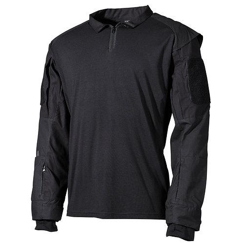 MFH - U.S. Tactical Shirt Deluxe - Lange Mauwen - Zwart