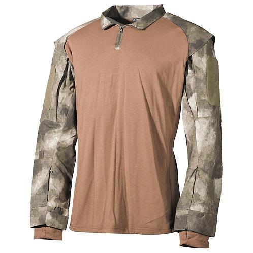 MFH - U.S. Tactical Shirt Deluxe - Lange Mauwen - HDT Desert Camo