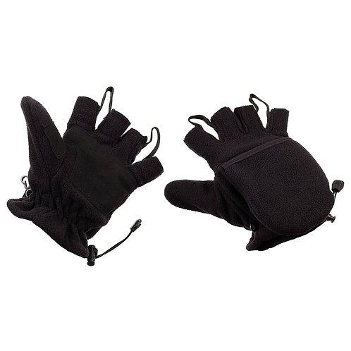 MFH - Fleece Handschoenen - Met vinger klep - Zwart