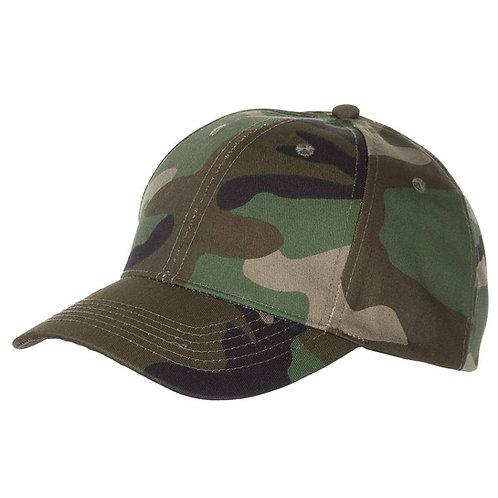 MFH - US Baseball Cap - Woodland Camouflage