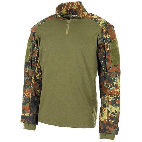 MFH - U.S. Tactical Shirt Deluxe - Lange Mauwen - Flecktarn Camo