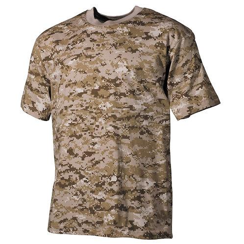 MFH - T-shirt - Korte Mouwen - Digital Desert Camo