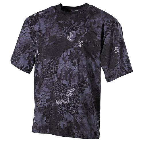 MFH - T-shirt - Korte Mouwen - Snake Black Camo