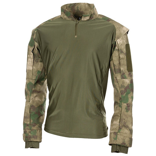 MFH - U.S. Tactical Shirt Deluxe - Lange Mauwen - HDT / Forest Camo