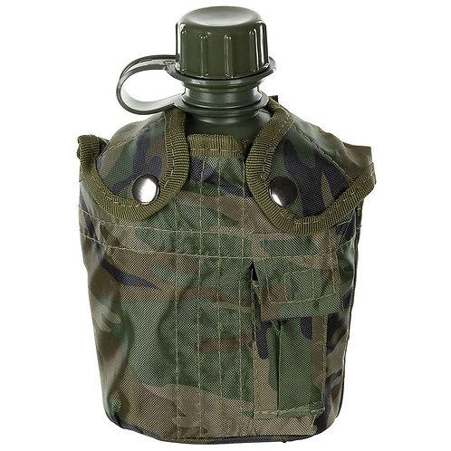 MFH - U.S. Veldfles Met Hoes - Woodland Camouflage