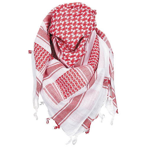 MFH - Shemagh - Plo Sjaal - Arafat Sjaal Rood/Wit