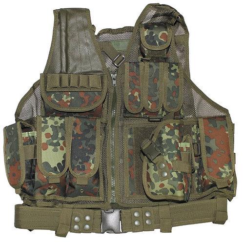 "MFH - Tactical Vest ""USMC"" - Flecktarn Camouflage"