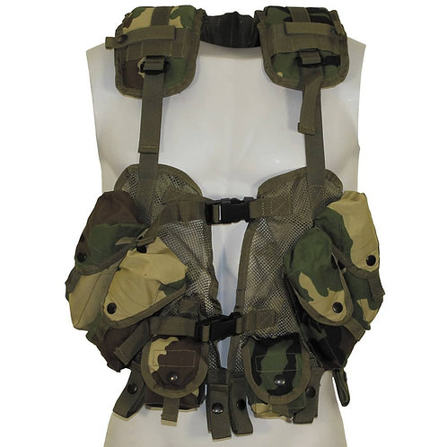 """MFH - US """"Load Bearing"""" Vest - Woodland Camouflage"""