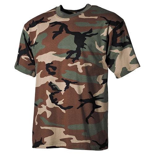 MFH - T-shirt - Korte Mouwen - Woodland Camo
