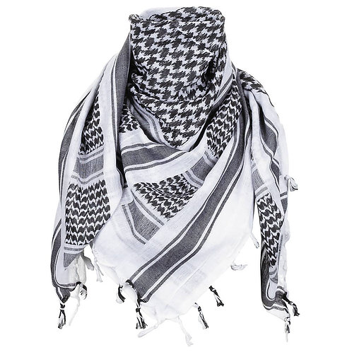 MFH Shemagh - PLO Sjaal - Arafat - Zwart/Wit