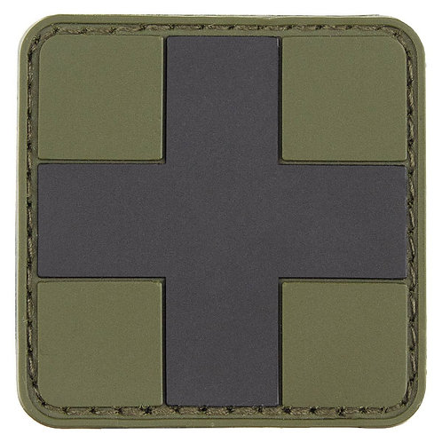 """MFH - Patch """"First Aid"""" - Zwart/Groen - 5cmx5cm"""