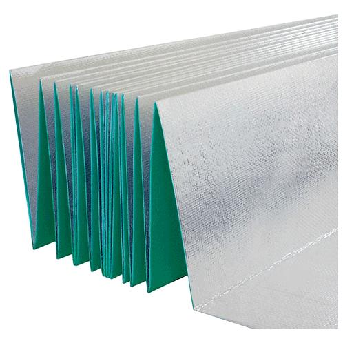 Folie izolatoare Izo Harmonica verde cu folie aluminiu