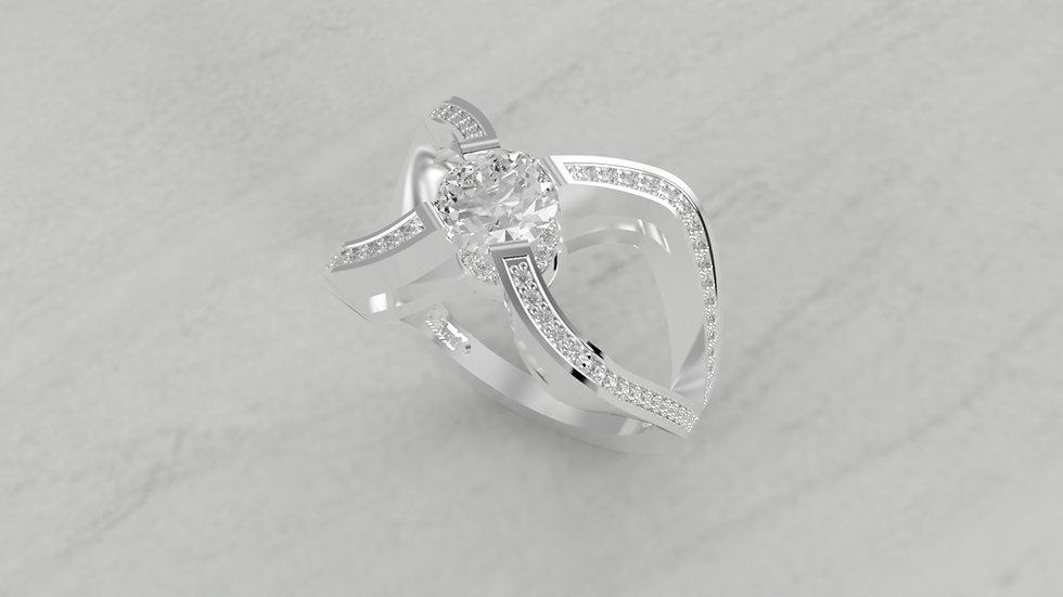 14K SPLIT SHANK 1/2 CTW SEMI-MOUNT DIAMOND ENGAGEMENT RING