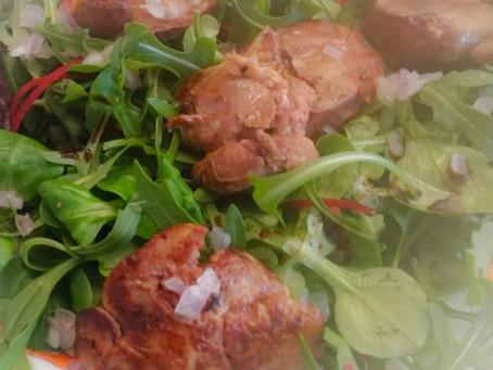 Salade foies de poulet