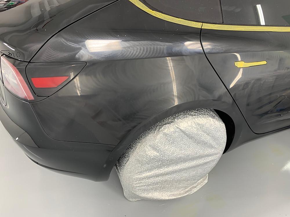 Tesla 3 step Paint Correction Vancouver BC