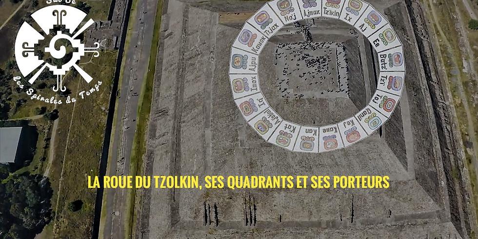 La Spirale du Temps:  La Roue du Tzolkin ses Quadrants et ses Porteurs -13 Chicchan