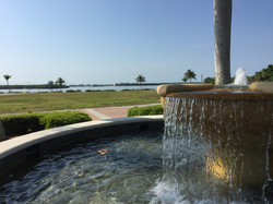 Relaxing pathway fountain