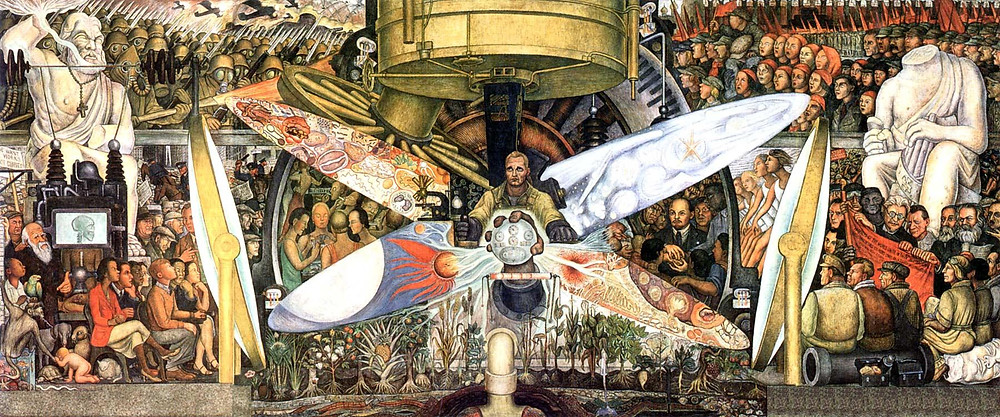 """Man at the crossroads"", Diego Rivera."