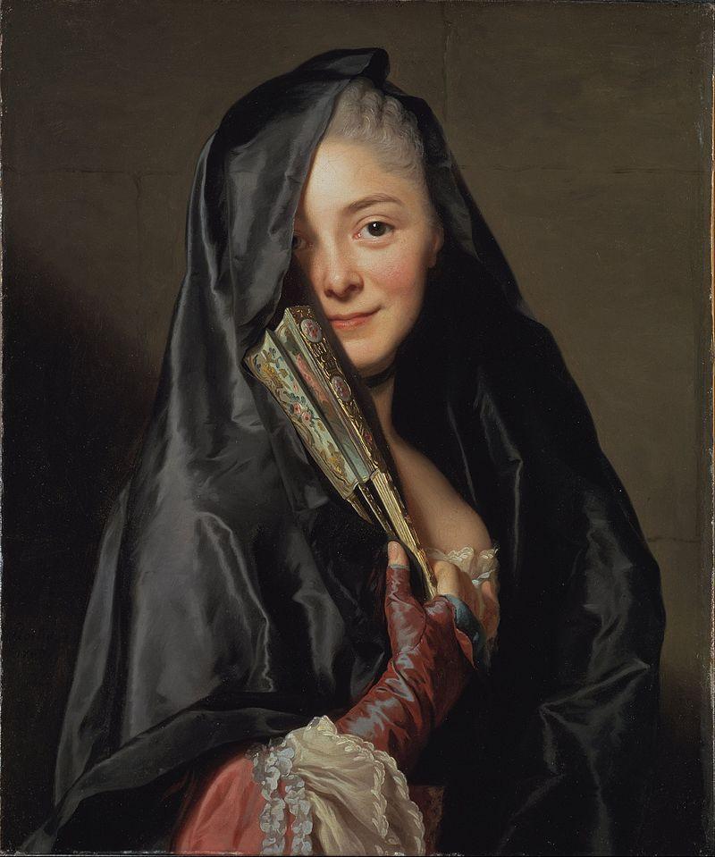 Marie-Suzanne, por Alexander Roslin (La Dame au Voile, 1768).