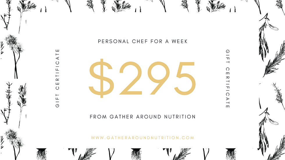Chef-for-a-Week Gift Certificate