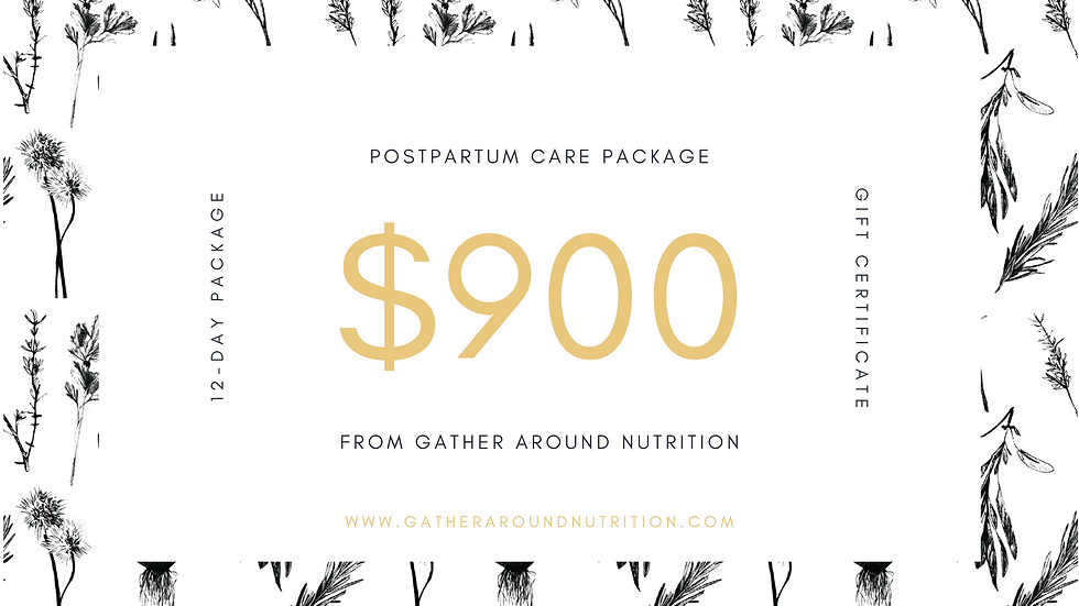 Postpartum Care Package 12-day
