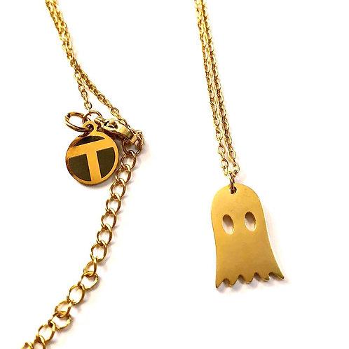 LITTLE GHOSTIE NECKLACE- GOLD