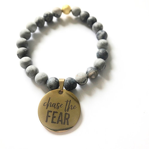 CHASE THE FEAR- GREY/GOLD