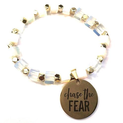 Cube Bracelet- White Opal